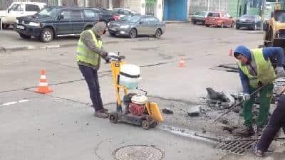 Ямочный ремонт асфальта