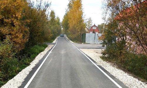 отремонтированная дорога в снт
