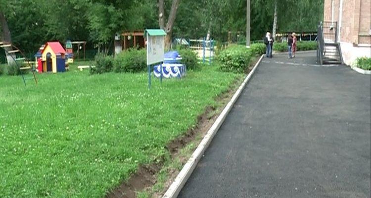 Укладка асфальта на территории детского сада